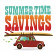Summer Time Savings — Imagen vectorial