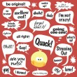 Royalty-Free Stock Vector Image: Various phrases in comic bubbles