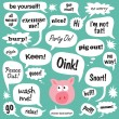 Various phrases in comic bubbles - Vettoriali Stock