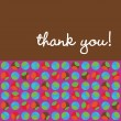 Thank You Card w/kids — Stockvectorbeeld