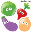 Isolated Vegetable Set 2 — Stock Vector