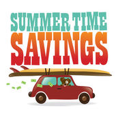 Summer Time Savings — Stockvector