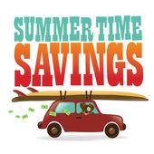 夏の時間の節約 — ストックベクタ
