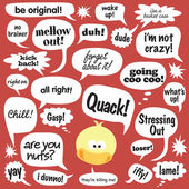 Various phrases in comic bubbles — Stock Vector