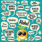 Phrases in comic bubbles (Hawaii) — Stock Vector