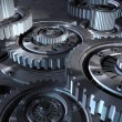 Steel gear mechanism - Stock Photo
