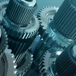 Steel gears in a single mechanism — Stockfoto