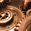 Bronze gears in a single mechanism — Stock Photo