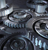 Steel gear mechanism — Stock Photo