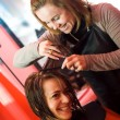 At the hair stylist — Stockfoto