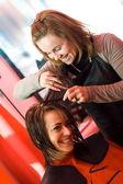 Para a estilista de cabelo — Fotografia Stock