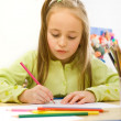 Child drawing - Stock Photo