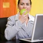 A bite in apple — Stock Photo