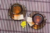 Tea and biscuit — Stock Photo