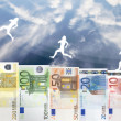 Stock fotografie: Raise of Euro money value