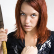 Girl being stoped while murdering - Stockfoto