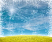 Beautiful snow flake background — Stockfoto