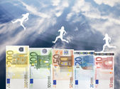Raise of Euro money value — Stock Photo