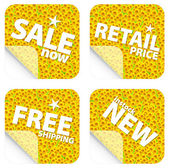 Sunflower retail stickers — Stock Photo