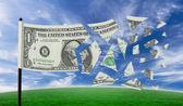 Dollar tearing apart — Stock Photo