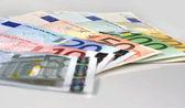 Spread of Euro banknotes — Stock Photo