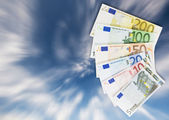 Assortment of Euro banknotes. — Stock Photo
