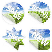 Beautiful grass stickers — Stock Photo