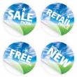 Beautiful blue sky horizon stickers - Stock Photo