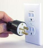 The wrong plug for the job — Stock Photo