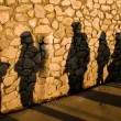 Stock Photo: Shadows on stone