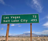 Vegas Mileage Marker — Stock Photo