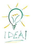 Idea light bulb. — Stock Photo