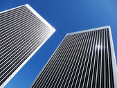 Two skyscrapers — Stock Photo