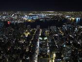 Manhattan gece görünümü — Stok fotoğraf