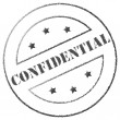 "Stock Photo: Stamp ""Confidential"""