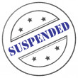 "Stamp ""Suspended"" — Stock Photo"