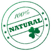 "Stamp ""100% natural"" — Stock Photo"