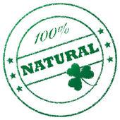 """Stamp """"100% natural"""" — Foto Stock"""