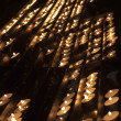 Rows of candles — Stock Photo