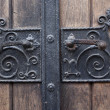 Iron door handle detail - Stock Photo