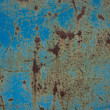 Blue rust metal - Stock Photo