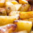 Hot roasted potatoes — Foto Stock