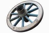 Wagon wheel on white background — Stock Photo