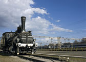 Antigua locomotora oxidada — Foto de Stock