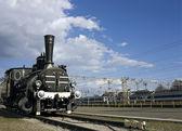 Stará rezavá lokomotiva — Stock fotografie