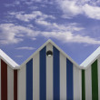 Beach huts roof - Stock Photo