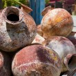 Pile of old amphoras - Stock Photo