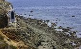 Cove in de klif — Stockfoto