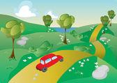 Road trip illustration — Stock Vector