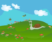 Snail illustration — Stock Vector